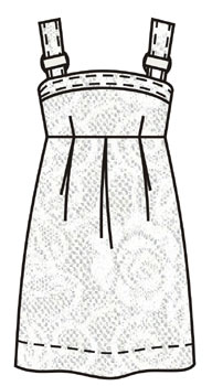 Джинсовый сарафан для девочки