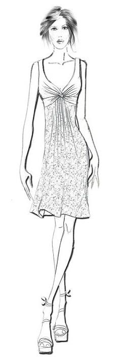 платья Летнее платье из шифона с
