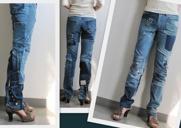 Модные джинсы своими руками фото