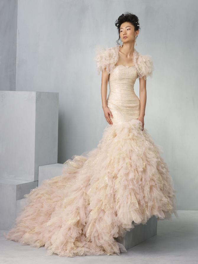 Свадебное Платье Русалка С Пышной Юбкой 60
