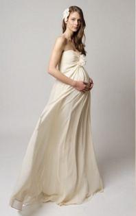 Элитные свадебные платья для будущих мам с завышенной талией будут идеальным решением вопроса. Если невеста не желает демонстрировать публике увеличившийся