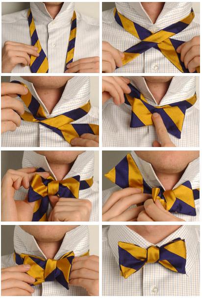 завязывать галстук - схема