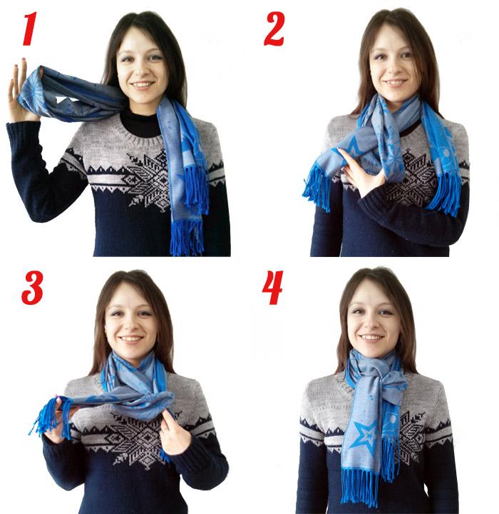 Как модно завязывать шарф