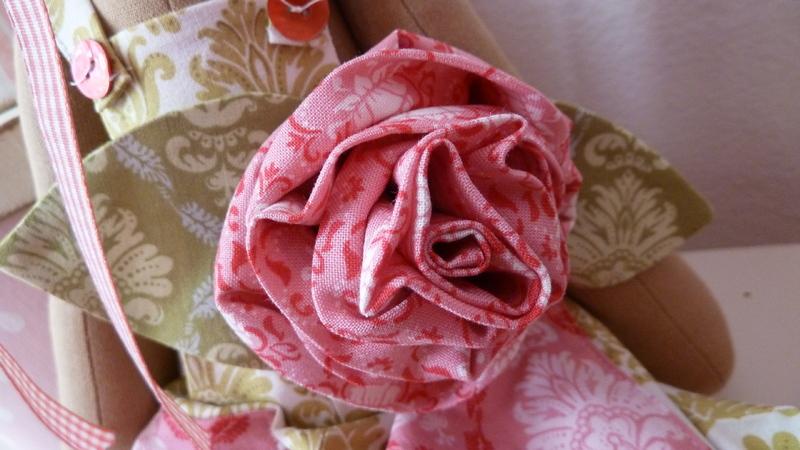 Розы из тканей своими руками
