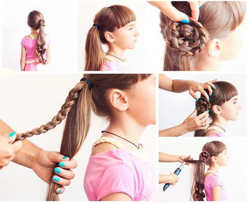 Причёски на день рождения детям своими руками