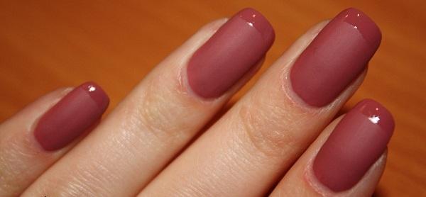 Как сделать матовый оттенок для ногтей