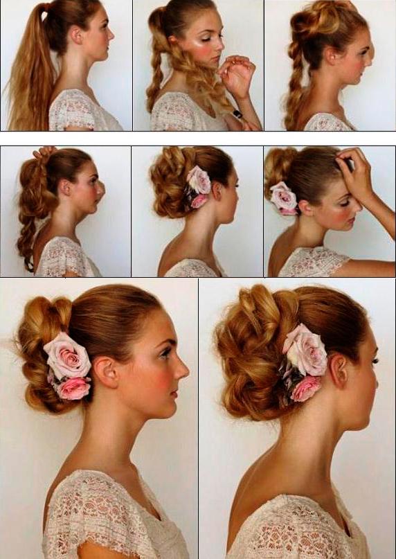 Простые причёски дома на средние волосы