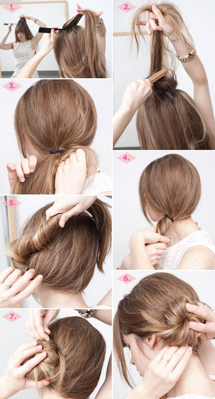 Причёски пучки своими руками