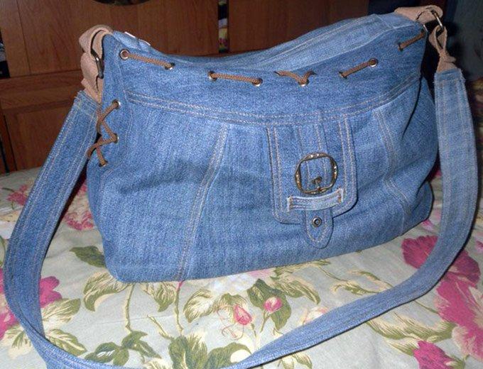 Сшить сумку из джинсов своими руками фото