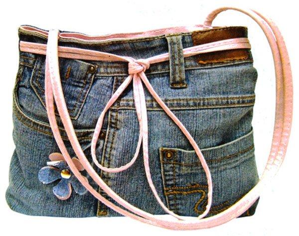 Как сшить сумку из джинсовой юбки своими руками видео