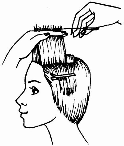 стрижка волос фронтальной зоны