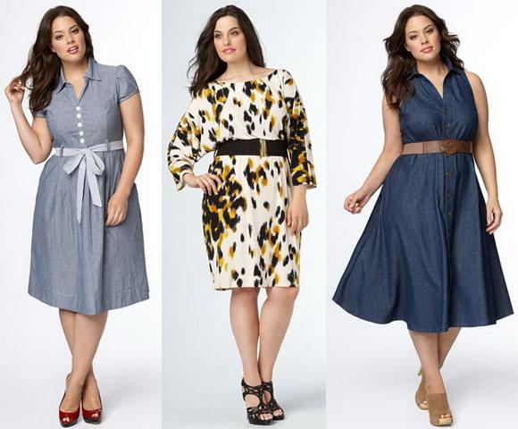 Фото модных платьев полных для женщин