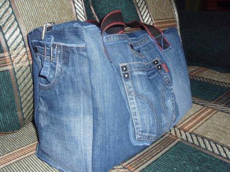 Как сшить сумку из джинс своими руками