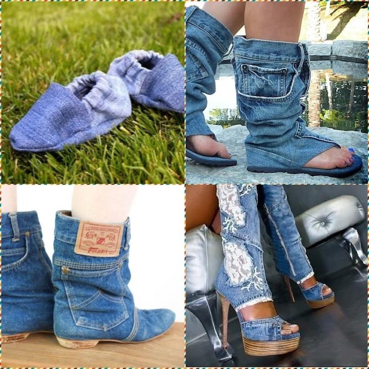 Обувь из джинсов своими руками