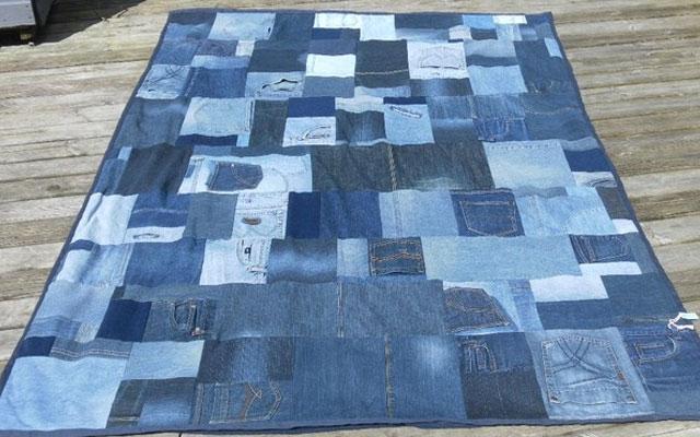 Коврик из старых джинсов своими руками фото