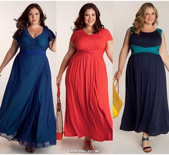 Модные платья для полных девушек.Фото