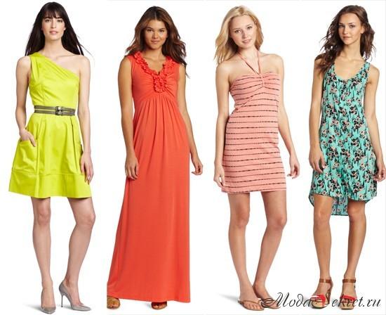 летние платья 2013 года: