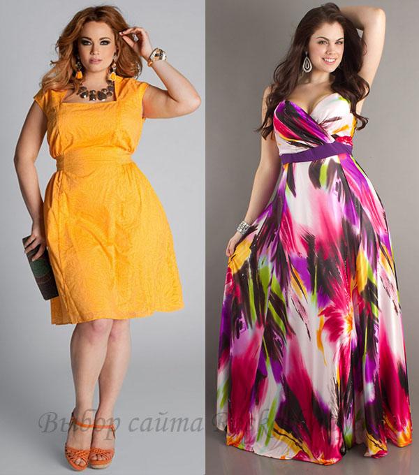 платья летние для полных