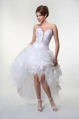Wedding Saloon :: Свадебные платья короткие со шлейфом - Свадебные