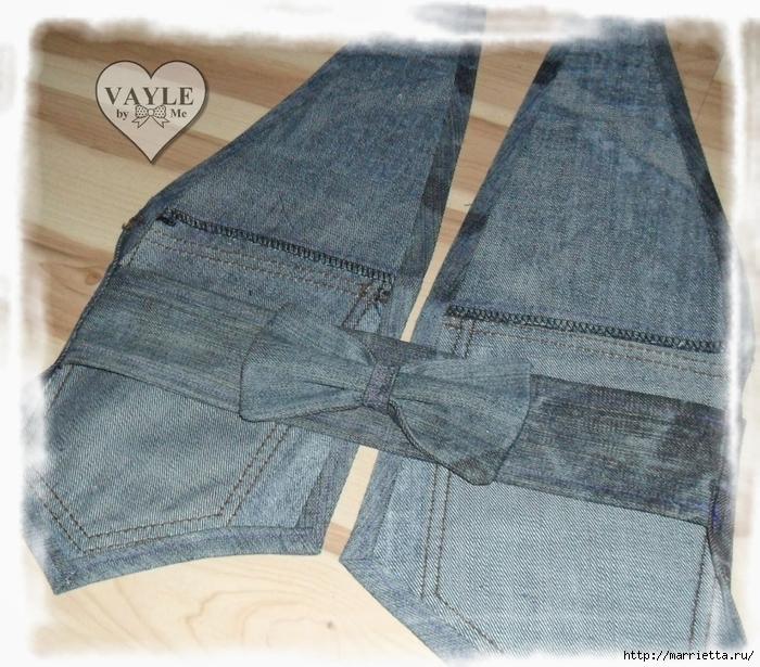 Жилет из джинсов видео
