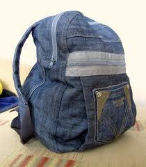 Как сделать мебельный щРюкзак из старых джинсов