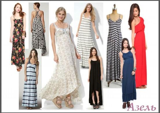 фасон платья, сарафана