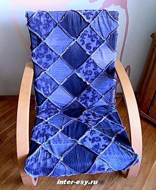 Чехол на стул из джинсы своими руками