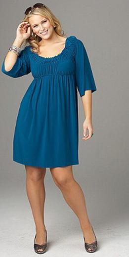 Платье для полных женщин своими руками без выкройки быстро