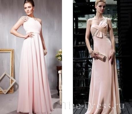 Ткань, цвет, длинного фасон вечернего платья