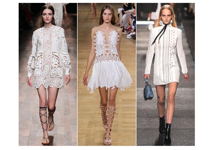 Кружева в современной одежде