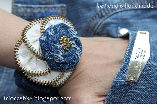 Украшения из джинса своими руками мастер класс