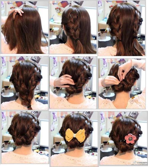 Прическа своими руками на волосы по плечи