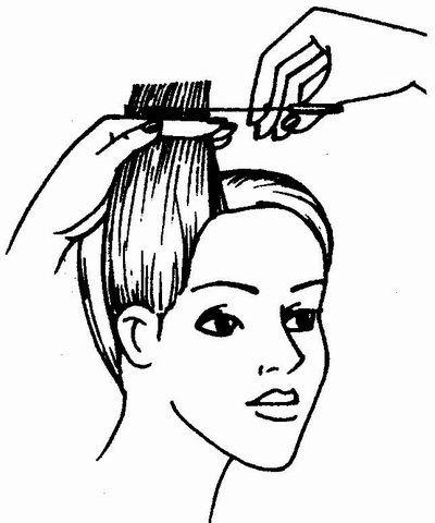 Выполнение градуировки волос