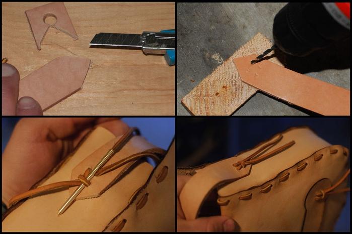 Сделать сумку из кожи без машинки