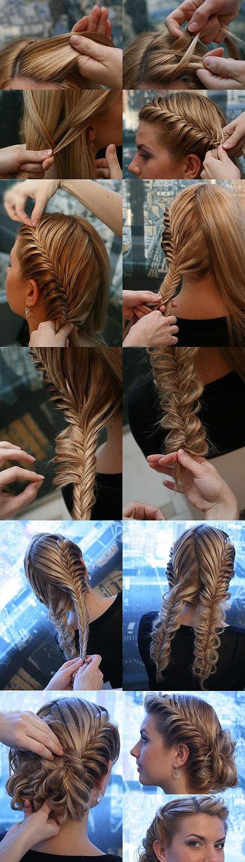 схема плетений кос узелками