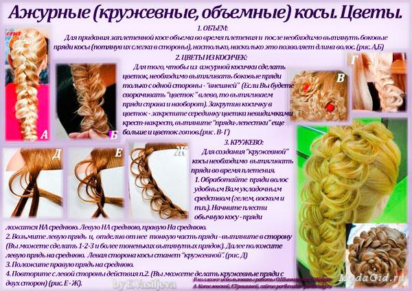 плетение косичек на голове