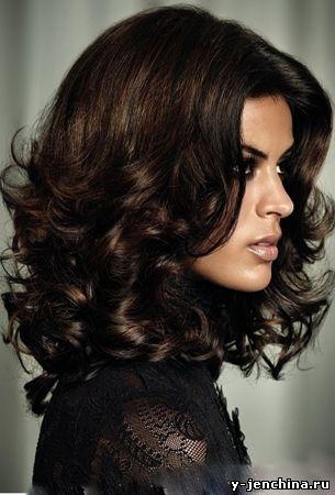 Прическа на длин волосы