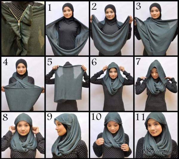 Как завязывать хиджаб