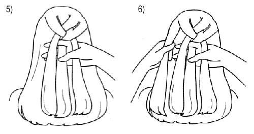 Плетение французской косы: