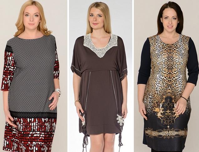 платья и сарафаны для полных