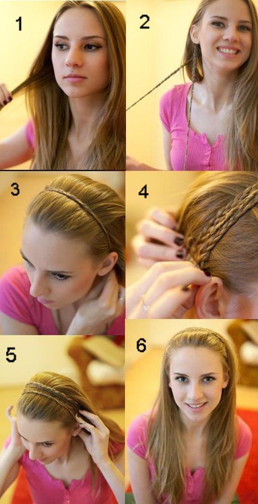 Косы на длинные волосы повседневные своими руками