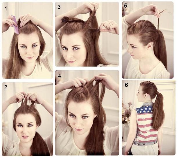 Причёски на длинные волосы на каждый день без челки