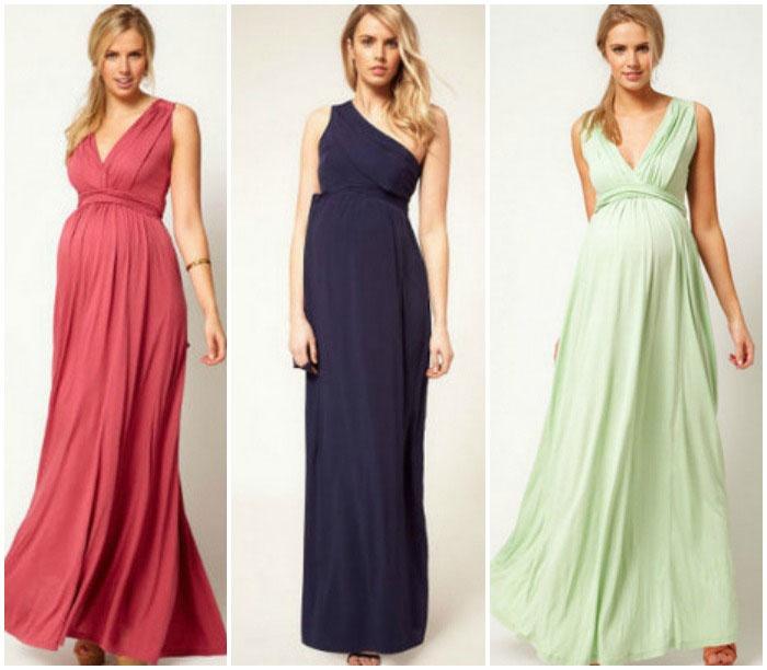 Платья в пол для беременных из шифона 1