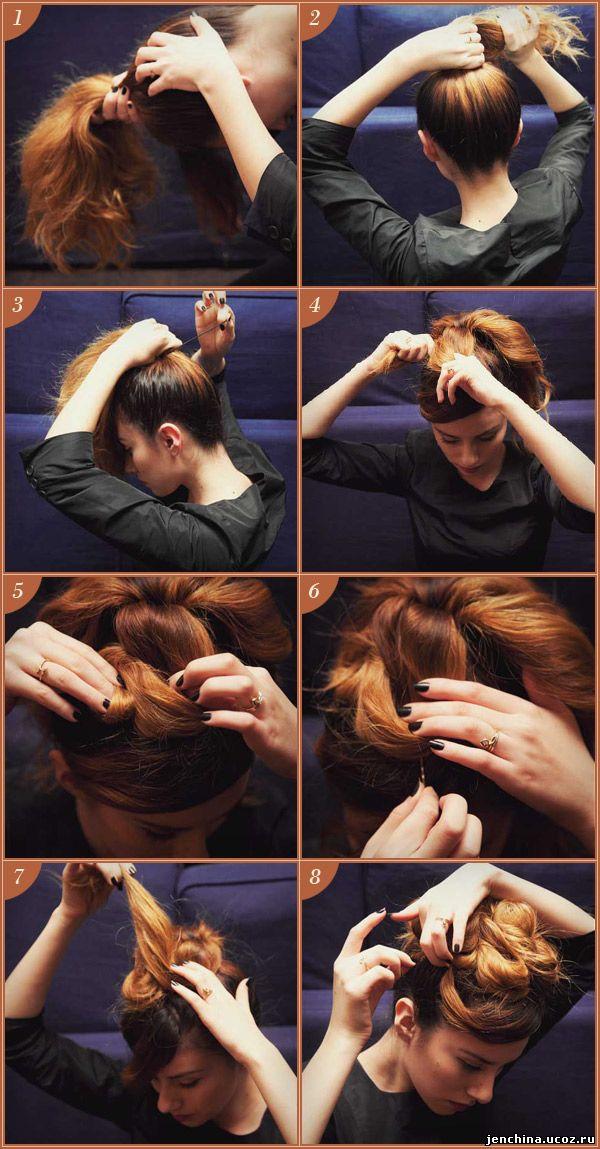 Прическа на праздник своими руками на средние волосы видео