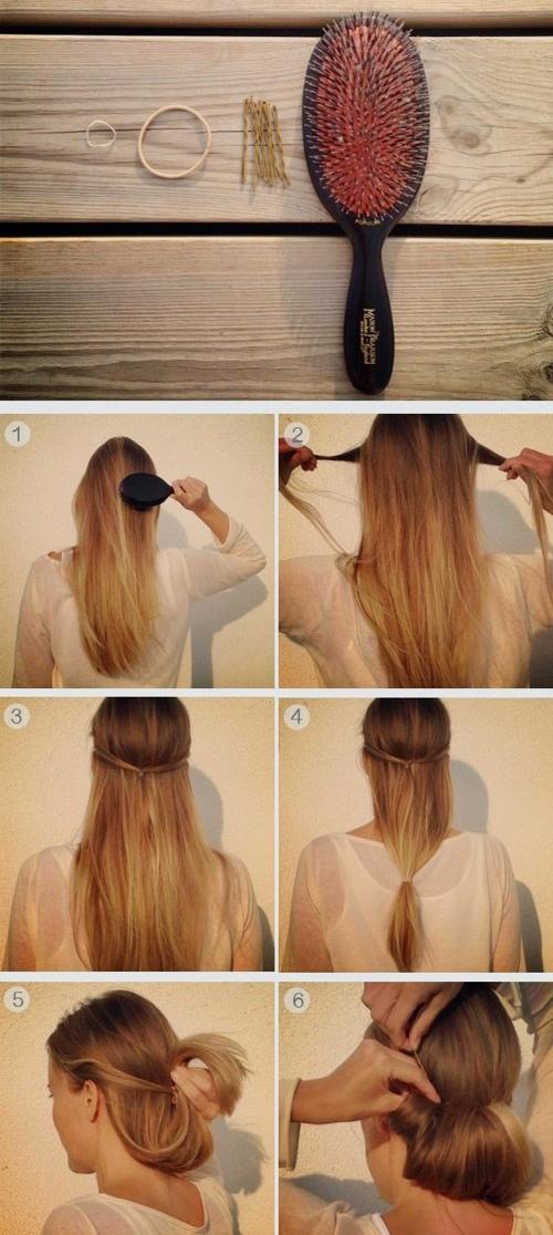 Прическа на длинные волосы своими руками быстро и красиво