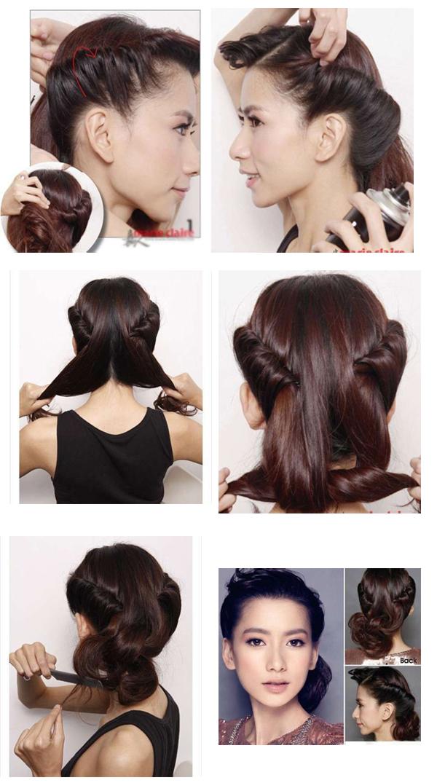 Причёски своими руками на средние волосы разной длины