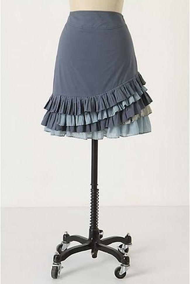выкройка для юбки с рюшами: