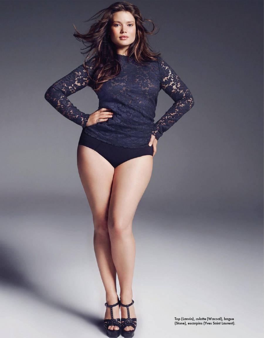 Толстая брюнетка девушка модель 19 фотография