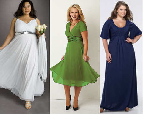 Модели платья для полных своими руками