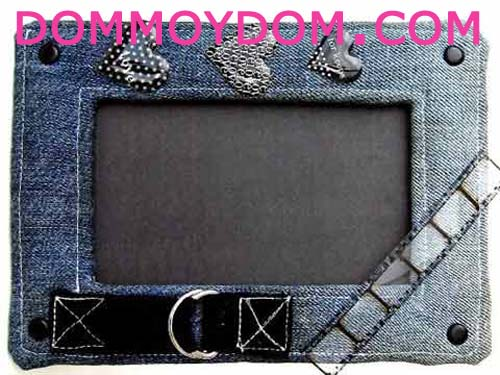 Рамки для фото из джинса